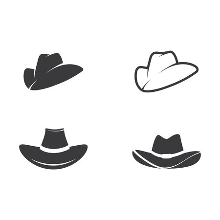 Hat West vector icon illustration design template Stock Illustratie