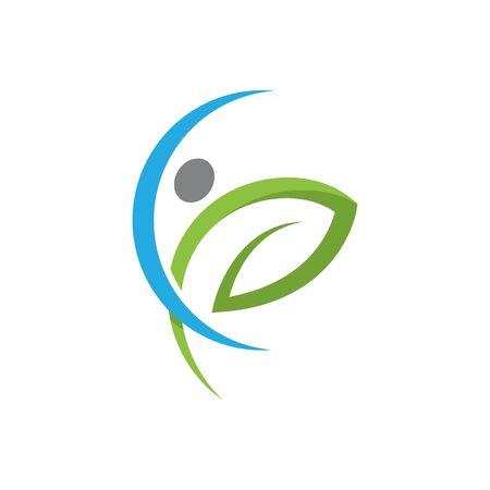Human character logo sign illustration vector design Stockfoto - 130788429