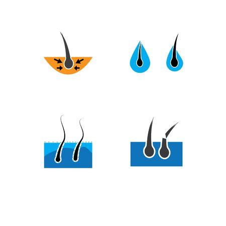 hair icon Vector Illustration design Logo template Ilustração