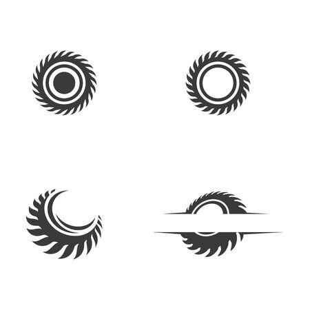 Plantilla de diseño de icono de ilustración de vector de sierra industrial