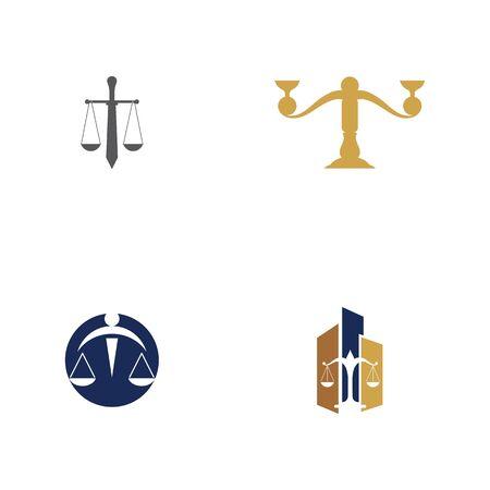 justice law Logo Template vector illsutration design Illustration