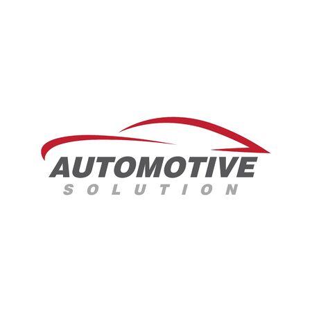 Disegno dell'icona dell'illustrazione di vettore del modello di logo dell'automobile automatica Logo