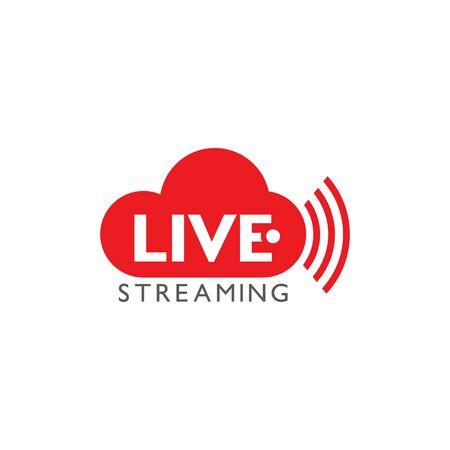 Live stream logo design. Vector illustration design template Ilustração