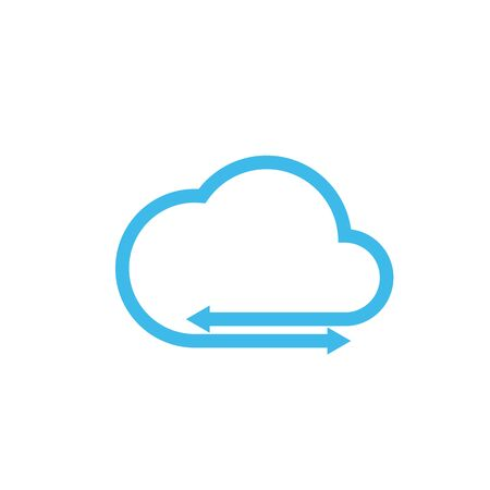cloud with arrow vector icon design template Stok Fotoğraf - 131845826