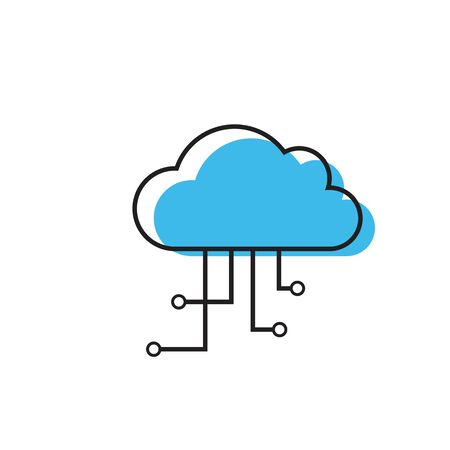 cloud computing vector icon design template