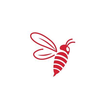 Bee icon Vector Illustration design Logo template