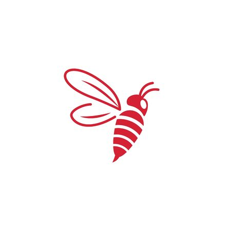 Biene-Symbol Vektor-Illustration-Design-Logo-Vorlage