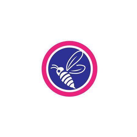 Bee icon Vector Illustration design Logo template Logo
