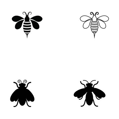 Bee icon Vector Illustration design Logo template