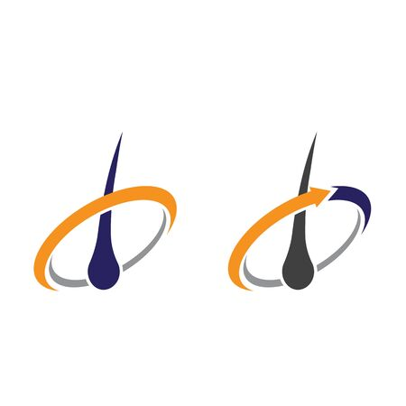 hair treatments vector icon illustration design template 矢量图像