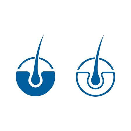 hair treatments vector icon illustration design template Ilustracja