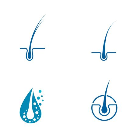 Hair treatments icon illustration template
