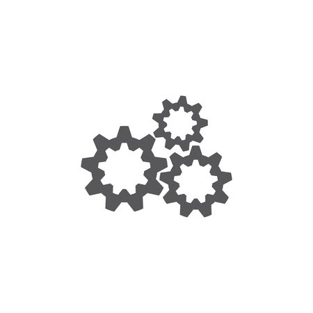 gear icon logo vector icon illustration Çizim