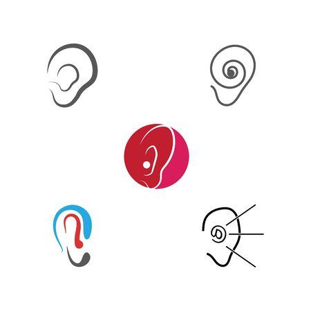 Hearing Vector Illustration design Logo template