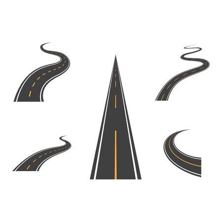 Way vector icon illustration design template Ilustrace