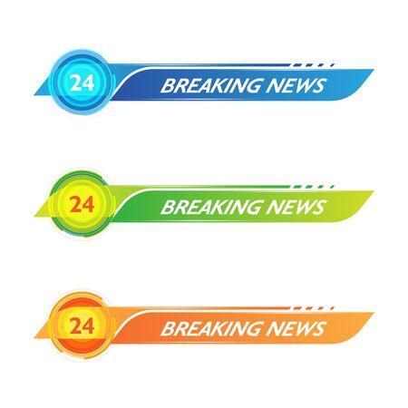 Modèle de conception de bannière TV icône vector illustration Vecteurs