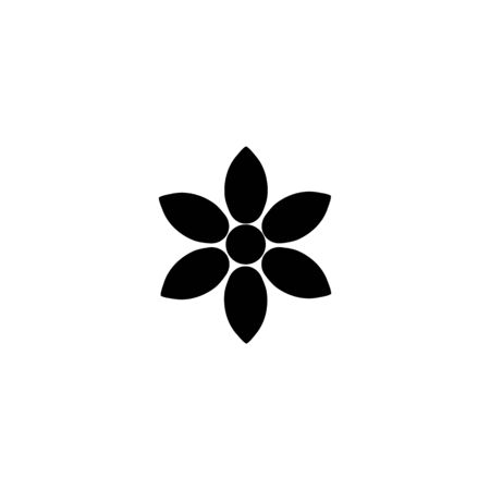 flower vector icon design template illustration