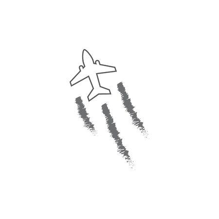 Airplane icon vector illustration design Logo Template Standard-Bild - 134899860
