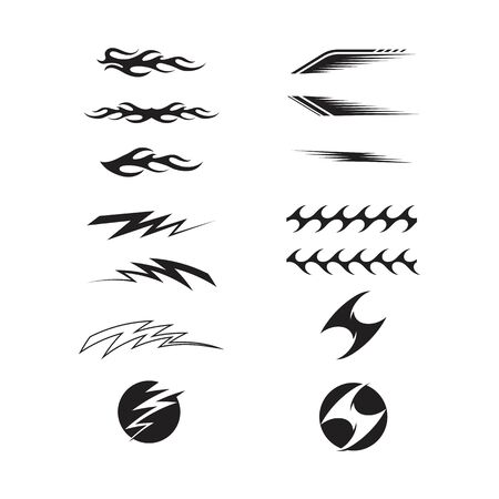 Vinyl art decoration stickers for Automotive Ilustração