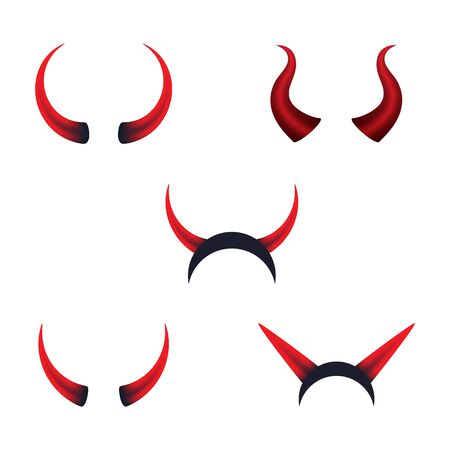 Devil horn Vector icon design illustration logo Template Zdjęcie Seryjne - 134899877