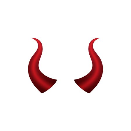 Devil horn Vector icon design illustration logo Template Zdjęcie Seryjne - 134899930