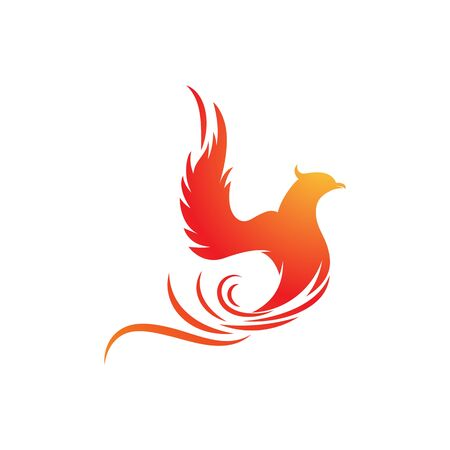 Phoenix vector icon illustration design template