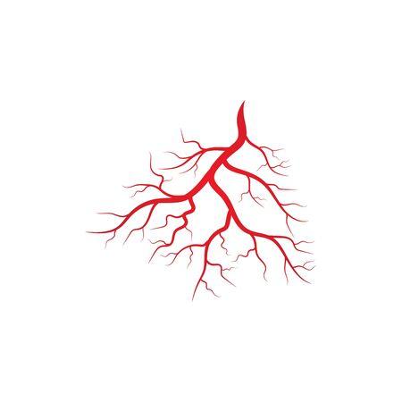 Human veins and arteries illustration design template Stock Illustratie