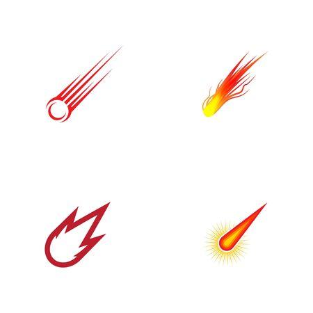 Comet vector icon illustration design template Ilustración de vector