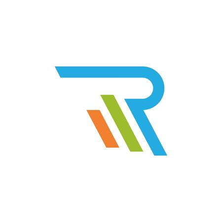 R Letter Arrow vector illustration icon Logo Template design