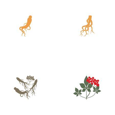 Ginseng icon Vector Illustration design Logo template Ilustrace