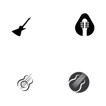 Guitar icon Vector Illustration design Logo template