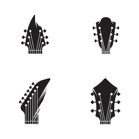 Guitar vector icon illustration design template