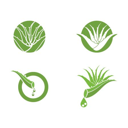 Aloe vera icon Vector Illustration design Logo template