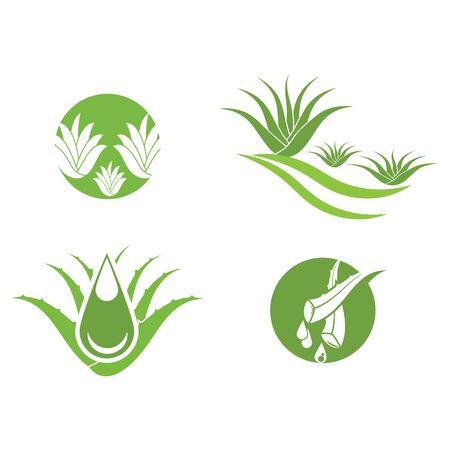 Aloe vera icon Vector Illustration design Logo template