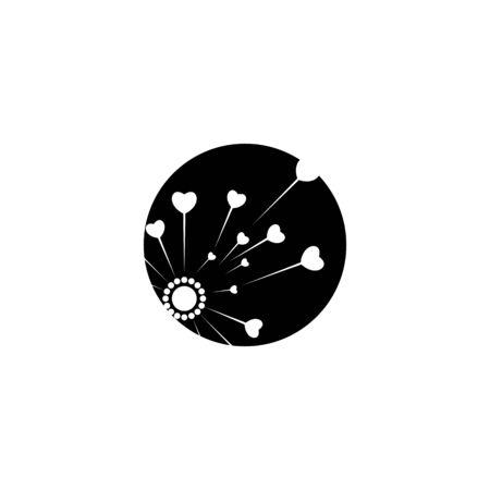 Dandelion icon Vector Illustration design Logo template