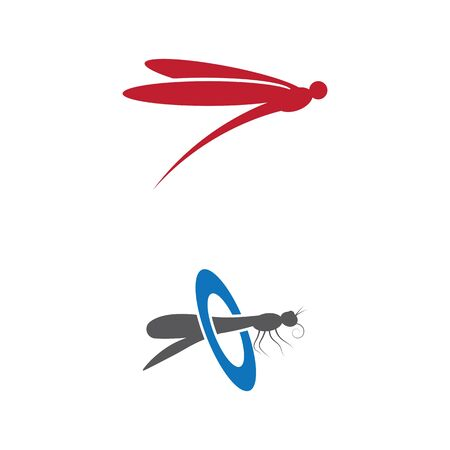 Dragonfly illustration icon design template vector