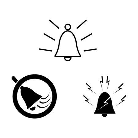 Bell icon Vector Illustration design Logo template