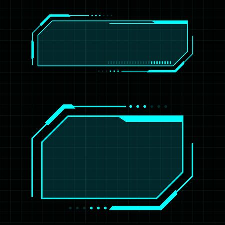 Futuristic user interface illustration design template