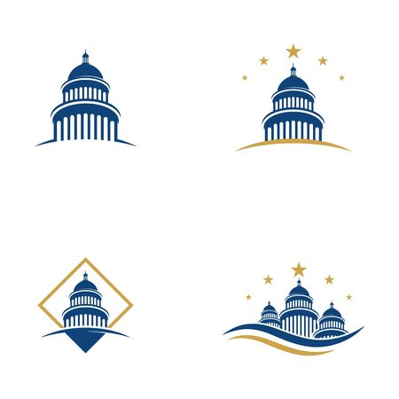 Capitol vector icon illustration design template