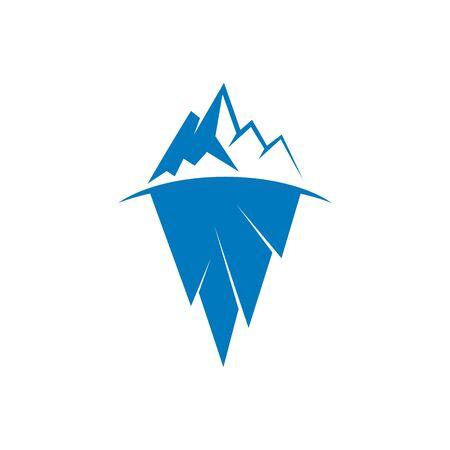 Iceberg vector illustration icon design template