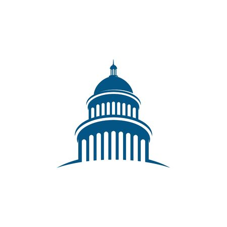 Capitol vector icon illustration design template