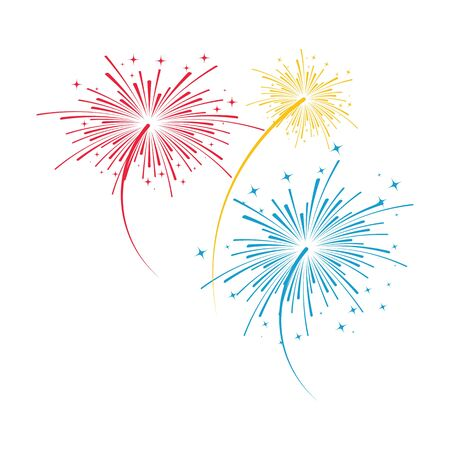 Firework vector icon illustration design template