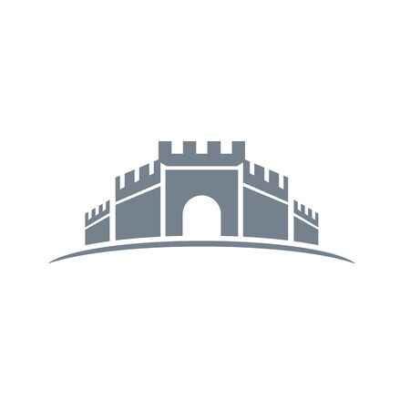 Castle icon Vector Illustration design Logo template
