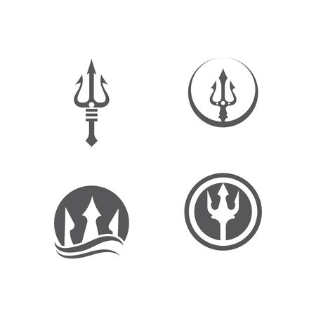 Set Tident icon Vector Illustration design Logo template