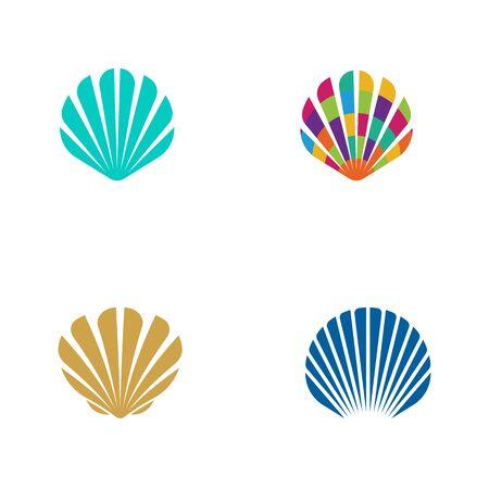 Shell vector icon illustration design template Illustration