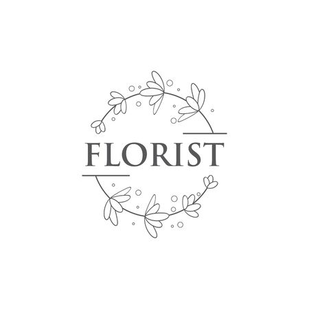 Beauty florist vector icon design template
