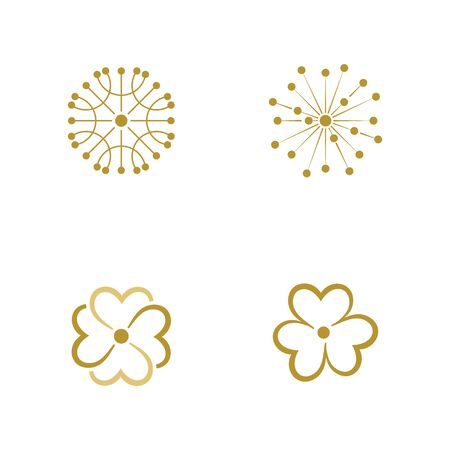 Beauty florist vector icon design template