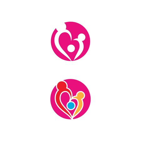 Beauty Love Vector icon illustration design Template Ilustracja