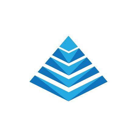 Pyramide Icon Vector illustration design