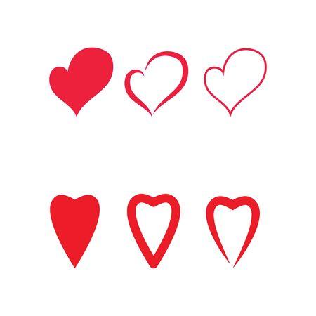 Set Beauty Love Vector icon illustration design Template